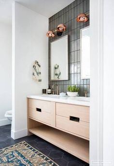 tiny bathroom before & afters that give us hope