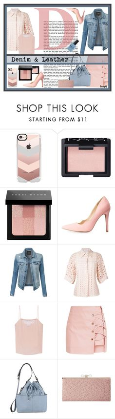 """""""DENIM AND LACE: Layers"""" by polyvore-suzyq ❤ liked on Polyvore featuring Casetify, NARS Cosmetics, Bobbi Brown Cosmetics, Qupid, LE3NO, Chloé, Tanya Taylor, Miss Selfridge, Jessica McClintock and Lauren B. Beauty"""