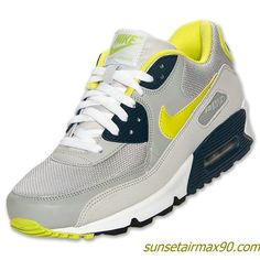 Nike Air Max 90 Essential Mens Strata Grey Cyber Squadron Blue 537384 031
