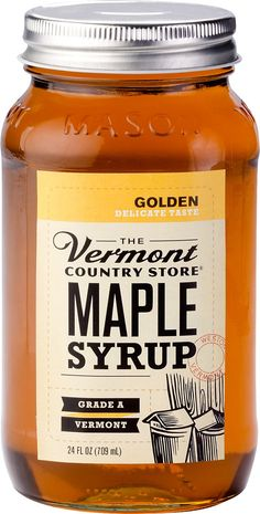 "vermontcountrystore.com ""Vermont Maple Syrup"", in Amber-Dark-Golden. Diff sizes & Prices."