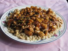 Honey-Orange Cashew Chicken With Sauce w/recipe