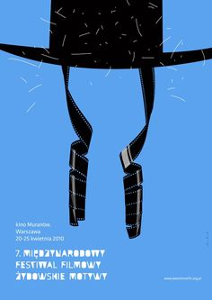Jewish Films. Cinema Poster warsaw Poland. Marcin Markowski