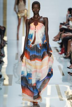 Diane von Furstenberg Spring 2014 Ready-to-Wear Fashion Show - Model Nykhor Paul