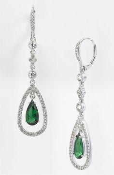 Nadri Crystal Teardrop Linear Earrings 90 Bridal Jewelry