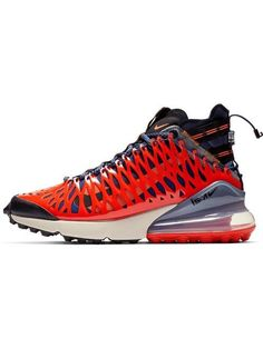 d755bd2286c Shop Nike blue and red ISPA air max 270 high top sneakers