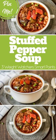 This stuffed pepper soup in the crock pot is so easy, and really delicious. I've been known to add some ground Italian sausage to it. I've also adapted it for the Instant Pot. With ground turkey or beef, this recipe is great for Weight Watchers!