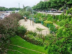Jardin du port de l'Arsenal. Paris 12ème arr.