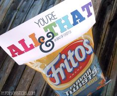 Another {FREE} Printable Valentine! You're all that and a bag of chips. Cute!