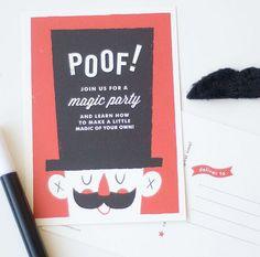 Magic Party Invitation Pinterest Magic party Party invitations