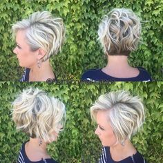 Stylish Messy Hairstyles for Short Hair - Women Short Haircut Ideas #MessyHairstylesCurly