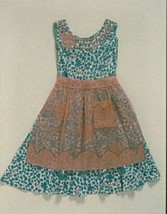 vintage - love the sheer apron and matching collar detail...so sweet.