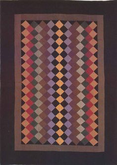 One-Patch Crib Quilt, 1932. Made by Rebecca Haarer. Amish. Topeka, Indiana.