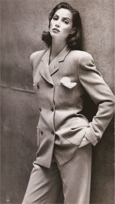 Christy Turlington - Giorgio Armani  -  Photograph: Patrick Demarchelier Harper's Bazaar September 1992