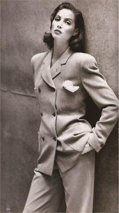 Christy Turlington - Giorgio Armani - Photograph: Patrick Demarchelier Harper's Bazaar September 1992