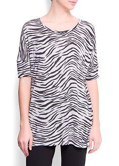 Mango SS2012 zebra print t-shirt