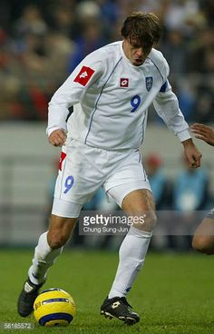 Savo Milosevic of SerbiaMontenegro in action during the International friendly match between South Korea and SerbiaMontenegro at the SangAm World Cup...
