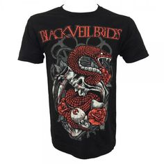 Black Veil Brides - Serpent Skull T-Shirt - TM Stores freaking awesome I love this