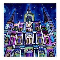St Louis Cathedral Shower Curtain City Curtains HeatherGallerShowerCurtains New Orleans Art