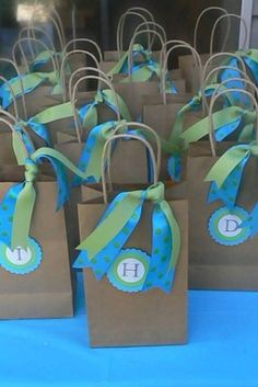 Cute party favor bags by mollie