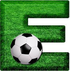 Abecedario Campo de Fútbol. Soccer Field Alphabet. Football Birthday, Boy Birthday, Soccer Party, Soccer Ball, Happy Fathers Day Pictures, Bulletin Board Letters, Football Themes, Team Gifts, Neymar