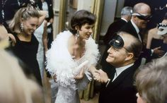 pictures of truman capote's swans | Truman Capote greets revellers at his 1966 Black and White Ball