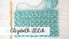 The Elizabeth Stitch - Easy Crochet Tutorial - Dabbles & Babbles by angelina Crochet For Beginners Blanket, Crochet Blanket Patterns, Baby Blanket Crochet, Crochet Baby, Free Crochet, Knit Crochet, Quick Crochet, Crochet Jacket, Crochet Slippers