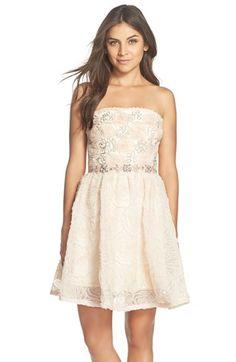 embellished tulle fit & flare dress @nordstrom #nordstrom