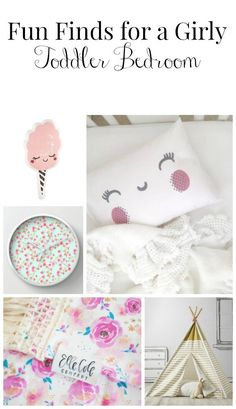 Decorating a toddlers bedroom can be so fun! Here are some fun items I found for a girly toddler bedroom.