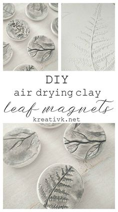 DIY leaf magnets