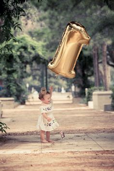 "First Birthday Balloon 40"" Giant Number, 1 Balloon, First Birthday Decoration Gold or Silver Number Balloon"