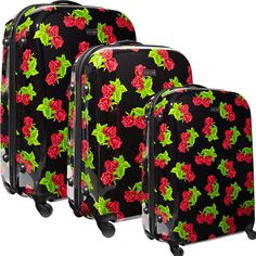 Fab.com | Velvet Rose Luggage Set by Betsey Johnson...only $420 for the set today!!!