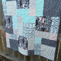 Baby quilt / child's quilt with bears arrows by TheNarrowStaircase