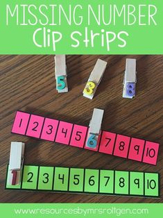 Use this FREE missing number download with your students or homeschool kids when they are ready to tackle number recognition. Numbers 1-10 are included. These will work great for your preschool or Kindergarten students, but can also be done as part of tot school. Grab the freebie included at the blog post and see how you can create your own clothespins DIY style.