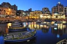 Spinola Bay, St. Julian's, Malta - a hub of some of the best restaurants in Malta is found in this area