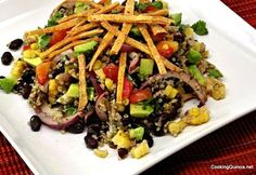 Mexican Flavored Quinoa Salad (Omit oil for oil-free option)
