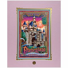 Disneyland Sleeping Beauty Castle Deluxe Print by Jeff Granito | Disney Store (I think I'm having heart failure)