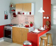 50 Cozy Small Kitchen Design Ideas On A Budget. Are you stuck with a small kitchen but you have some big ideas? Do you have kitchen envy and you wish that you had the counterspace and floor space that. Navy Kitchen Cabinets, Small Kitchen Cabinet Design, Kitchen Cabinet Styles, Kitchen Stools, Kitchen Flooring, Kitchen Small, Interior Exterior, Kitchen Interior, Kitchen Decor