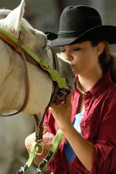 Nothing comes between a girl and her horse!