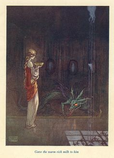 Feeding The Dragon by Florence Mary Anderson, from the book The Black Princess and Other Fairy Stories From Brazil