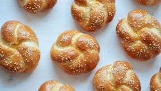 Delicious yeast egg bread made into small rolls, perfect for dinner or buns for sandwiches and sliders! - Brought to you by No Yolks Challah Rolls, Bread Rolls, Bread Winners, Bread Dough Recipe, Armenian Recipes, Savory Pastry, Czech Recipes, Easy Bread Recipes, How To Make Bread
