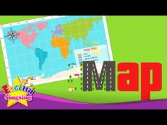 Kids Vocabulary Our Planet Earth Continents Oceans - Map videos for kids