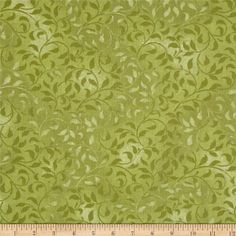 """Climbing Vine 108"""" Wide Back Sage Green from @fabricdotcom  Designed by Bella Lu Studio and licensed to South Sea Imports, this 108'' wide quilt backing is perfect for adding just the right finishing touch to your quilts as well as duvets, pillows, dust ruffles, light curtains and more!  Colors include shades of green."""