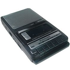 Tape recorder. Remember how weird you thought your voice sounded