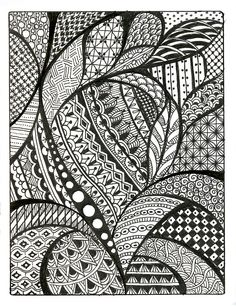Zentangle Patterns Free | Similar Galleries: Cool Simple Patterns To Draw On Paper , Cool ...