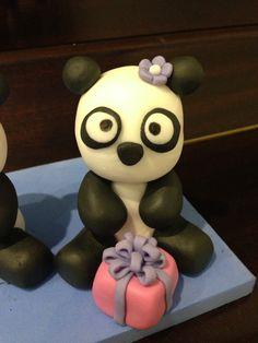 Izzy turns 2 - panda cake topper