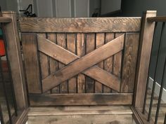 Homemade baby or pet gate.