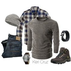 A fashion look from October 2014 featuring brown sweater and beanie hats. Browse and shop related looks.