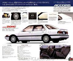Car Brochure, Old School Cars, Car Advertising, Japanese Cars, Jdm Cars, Retro Cars, Honda Accord, Cars And Motorcycles, Ferrari