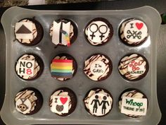 NOH8/Gay Pride cupcakes
