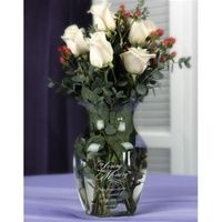 In Loving Memory Vase - ON SALE at The Wedding Shoppe Canada w/orange roses
